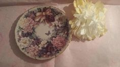 """$12--Vintage Lena Liu """" Circle of Love"""" Porcelain Collectors Plate Limited Edition * Butterfly * Flowers * Plate Hanger by JunkYardBlonde on Etsy"""