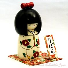 Lovely Creative Kokeshi Doll RIBBON by Usaburo