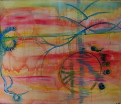 Coucher de soleil Painting, Sun, Painting Art, Paintings, Painted Canvas, Drawings
