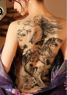 Tattoo - Waterproof Whole Back Temporary Tattoo