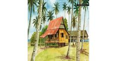 Village Scenery Painting on Canvas by Tam Zoyah Product Code: SCENE_003RZ-C Price : RM 48.00 If you are interested, can visit artpainting.my
