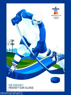 2010-Vancouver-Canada-Olympic-Games-Ice-Hockey-Travel-Advertisement-Poster