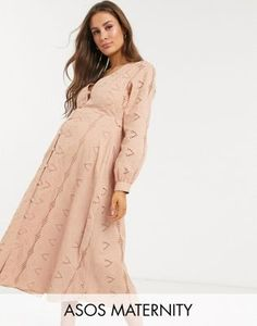 Buy ASOS DESIGN Maternity broderie button through midi tea dress in mink at ASOS. Get the latest trends with ASOS now. Asos Maternity, Maternity Tops, Maternity Dresses, Maternity Fashion, Maternity Style, Going Out Outfits, Pregnancy Outfits, Latest Dress, Dress Codes