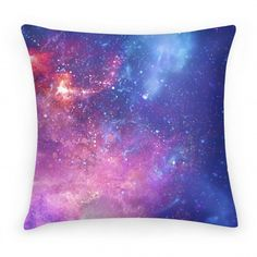 Original art on double-sided printed Pillows in spun polyester from recycled materials with hidden zipper. Indoor and outdoor cases available. Lay your tired head in a sea of stars and cosmic energy with this wonderfully soft and spacious galaxy pillow! Galaxy Bedding, Galaxy Bedroom, Diy Galaxy, Galaxy Art, Cute Pillows, Throw Pillows, Glitter Room, Room Accessories, Creative Home