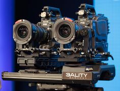 Dual Red Epic 5K Video Cameras on a 3ality Stereoscopic Camera Rig (2010)