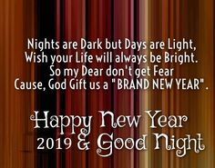 New Year Quotes : QUOTATION – Image : Quotes Of the day – Description Good Night And Happy New Year 2019 Sharing is Caring – Don't forget to share this quote ! New Year Wishes Messages, New Year Wishes Quotes, New Year Message, Happy New Year Quotes, Happy New Year Wishes, Quotes About New Year, Happy Quotes, Happy New Year Photo, Happy New Years Eve