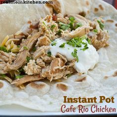 I have wanted convert some of my favorite slow cooker recipes to Instant Pot recipes just like with this instant pot cafe rio chicken. Slow Cook Chicken Recipes, How To Cook Chicken, Slow Cooker Recipes, Cafe Rio Recipes, Mexican Food Recipes, Ethnic Recipes, Cafe Rio Chicken, Using A Pressure Cooker, Instant Pot