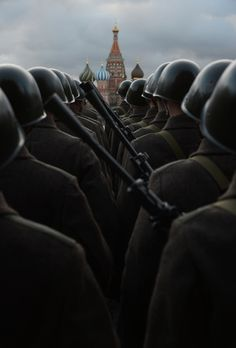 The historic parade dedicated to the legendary military march 1941, held November 7, 2012 on Red Square in Moscow.