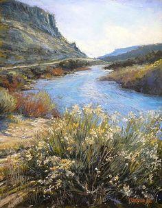 Run River Run by Margi Lucena Pastel ~ 14 x 11