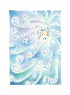"""Haya-akitu-hime-no-kami"" −RiLi, picture book, illustration, design ___ ""速秋津比売神 (ハヤアキツヒメノカミ)"" −リリ, 絵本, イラスト, デザイン ...... #illustration #japanese #goddess #water #イラスト #日本 #女神 #水"