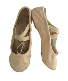 Lady's Pink Canvas split-sole Ballet Slippers --7.5 M Fashion Every Day $12.50 prime