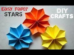 DIY Crafts Tutorials - Easy Paper Stars - Party decoration ideas - Giulia's Art