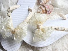 Items similar to Boho wedding Ivory lace bridal flip flops bride, bridal shower gift, dancing shoes, romantic wedding, shoes, honeymoon gift, lace sandals on Etsy