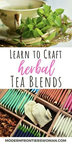 Healing Herbs, Medicinal Herbs, Making Herbal Tea, Homemade Tea, Garden Ideas Homemade, Smoothie, Tea Blends, How To Make Tea, Tea Recipes