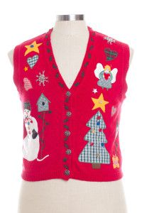 Red Ugly Christmas Vest 28336