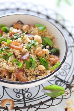 Couscous with dates and mint.