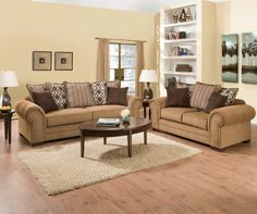 Simmons Lorenzo Teak Scatter Back Living Room Furniture Collection | Big  Lots