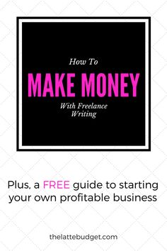 Have you ever wondered if it was possible for you to make money by freelance writing? I'm here to show you how, and why, you can start your own profitable freelance writing business. Get my free guide here!