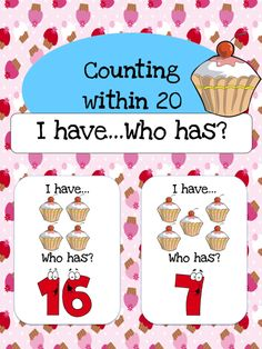 $1 I have... Who has? Game to help students learn to count within 20.  Also available as part of a bundle package at a discount price.  Click link below for more info about the images used to make this resource (Images © Graphics Factory) http://jasonsonlineclassroom.com./graphics-factory/