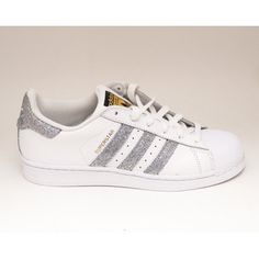 Glitter Limited Edition Silver Adidas Superstars Ii Fashion Sneakers Shoes