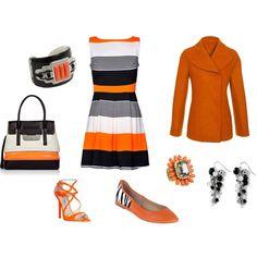 black and orange