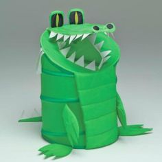 Alligator Laundry Hamper Material - Nylon by W C Redmon. $16.59. Great design, attractive to children. Collapses for easy storage. Eat up those dirty clothes or messy toys. Moisture resistant nylon, easy to clean. A fun alligator shape makes this nylon hamper especially appealing to youngsters. Moisture resistant and easy to care for (just clean with a damp cloth), this fun hamper can also be used to store toys. Chomp away at piles of laundry with the Alligator Laun...