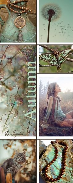 "Hi Ladies.  That was a lovely fairy board yesterday for Mary's Bday. Hope it was a wonderful day Mary. Today, I have made us a "" fallish ""  mood board of Mint Chocolate. With mint green, brown and tans, and hints of very light pink almost rustic.  I hope you enjoy it. Thanks ❤ Lu"