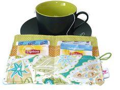 Green Tea Wallet / Travel Tea Wallet /  Tea Bag Holder by Driworks