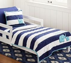 Camden Toddler Quilted Bedding. #potterybarnkids #spring2014