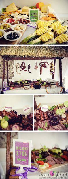 Tabliczki i winietki na bufet serowi i stół wiejski