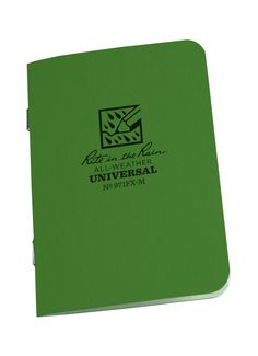New Product! STAPLED MINI NOTEBOOK - UNIVERSAL - GREEN - 3 PACK [971FX-M] - $6.95