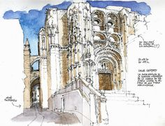 Urban sketchers show the world, one drawing at a time. Pen And Watercolor, Watercolor Paintings, Art Station, Urban Sketchers, Landscape Design, Photo Art, Illustration Art, Illustrations, Sketchbooks