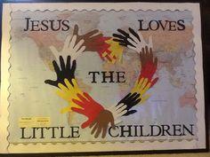Church Bulletin Board - Jesus Loves the Little Children