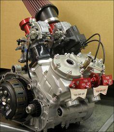 Silnik dwusuwowy 2-cylindrowy, Rzędowy, w układzie poprzecznym. Aprilia TSS RS 500 GP z 2008 roku.