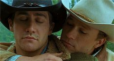 jake gyllenhaal and heath ledger from brokeback mountain -  animated GIF