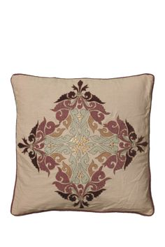 Corded Medallion Throw Pillow - Beige by Rizzy on @nordstrom_rack
