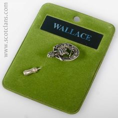 Wallace Clan Crest Pewter Tie Pin. Free worldwide shipping available