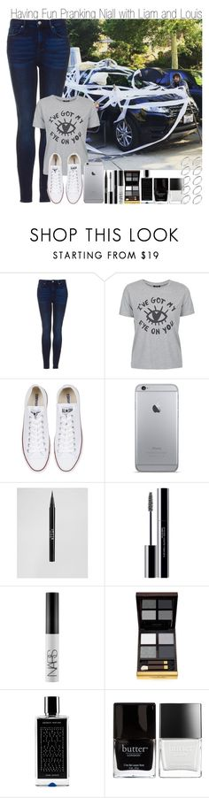 """""""Having Fun Pranking Niall with Louis & Dream Boy Tag"""" by elise-22 ❤ liked on Polyvore featuring Topshop, Converse, Stila, shu uemura, NARS Cosmetics, Tom Ford, Agonist, Butter London and ASOS"""