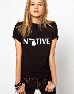 michigan shirt, native shirt, michigan state university, michigan art, detroit, home shirt, home t, grand rapids, map shirt, t shirt, tee