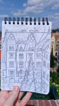 'View of Vratislavova from the castle walls. Drawing Things, Castle Wall, Prague Czech Republic, Urban Art, Art Blog, Photo Art, Walls, Sketches, Architecture