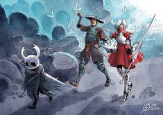Fantasy Character Design, Character Inspiration, Character Art, Hollow Night, Shovel Knight, Hollow Art, Knight Art, Cartoon Crossovers, Fan Art