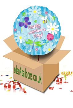 Mothers Day Balloon in a Box Mothers Day Balloons, Gifts Delivered, Flowers Delivered, Happy Mothers Day, Bouquet, Box, Floral, Handmade, Florals