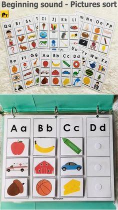 Preschool Activity Books, Preschool Literacy, Toddler Learning Activities, Preschool Learning Activities, Alphabet Activities, Language Activities, Classroom Activities, Preschool Binder, Preschool Printables