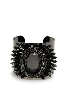 TOUCH - Faceted crystals wide cuff #FW13 #MANGO