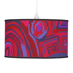 Lámpara Symbols Red blue