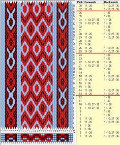 36 tarjetas, 3 colores, repite cada 12 movimientos // sed_614 diseñado en GTT༺❁