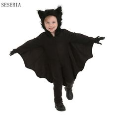 SESERIA Hot Sale Child Boy Batman DC Comic Movie Character Cosplay Fancy Halloween Carnival Party Costumes #Affiliate