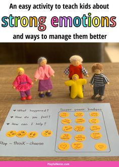Try this easy self-regulation activity for kids to teach them how to manage strong emotions better and use calming strategies when they feel angry, worried, or upset. - Self-control activity | Emotion activities for kids