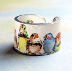 Parakeet Party Ring   Flickr - Photo Sharing! Shrink Plastic