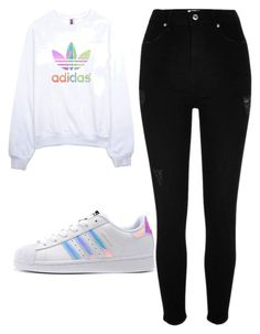 """""""Outfit #68"""" by malayam ❤ liked on Polyvore featuring adidas, River Island and adidas Originals"""